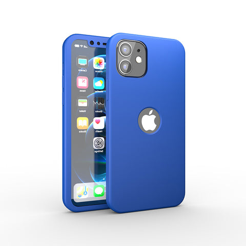 Apple iPhone 12 360 Blaue Hülle