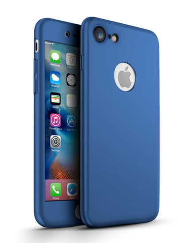 Apple iPhone 7 360 blaue Hülle