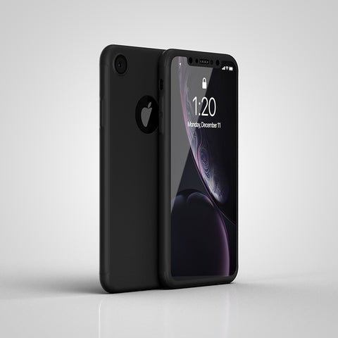 Apple iPhone XR 360 schwarze Hülle