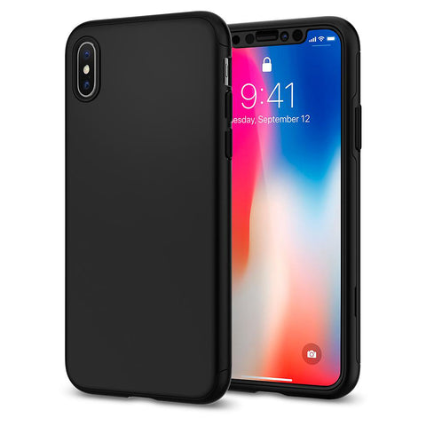 Apple iPhone XS 360 schwarze Hülle