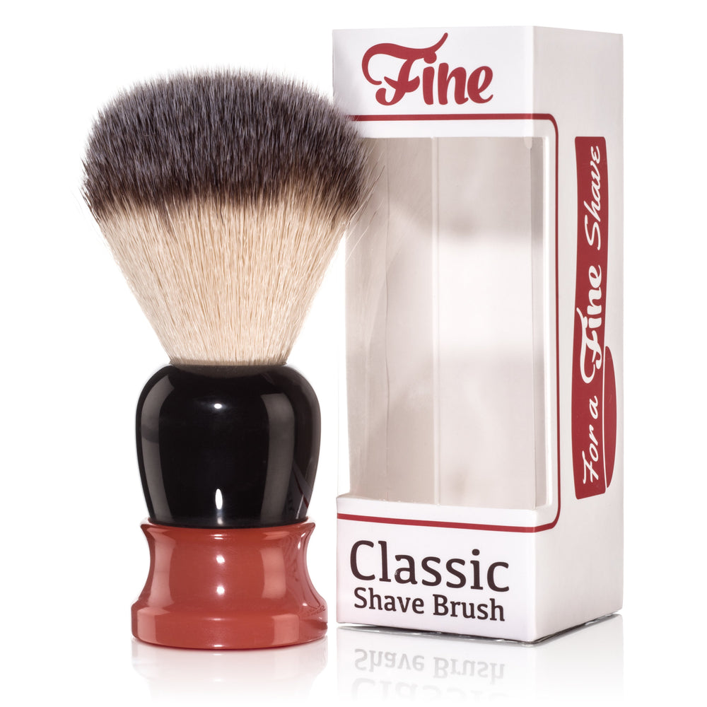 Fine Accoutrements Classic Shaving Brush - Orange/Brown