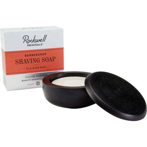 Rockwell Shave Soap in a wooden Bowl - Barbershop Scent