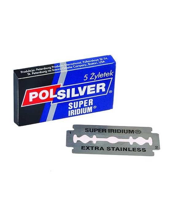 Polsilver Double Edge Safety Razor Blades Super Iridium (5 Blade pack)
