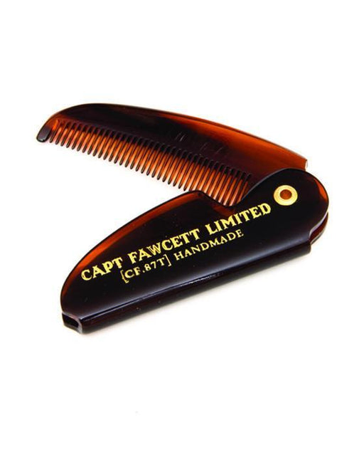 Captain Fawcett's Folding Pocket Moustache Comb (Length 117mm), Mustache Combs