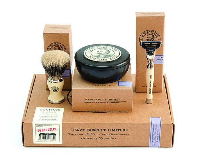 Captian Fawcett's Shaving Box Gift Set, Cartridge Razors