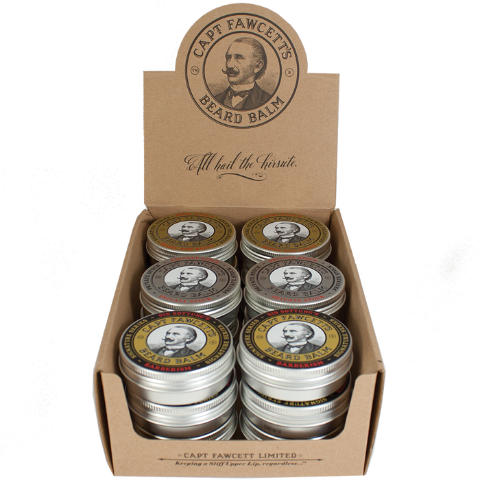 Captain Fawcett's Beard Balm Set Bundle, Beard Care