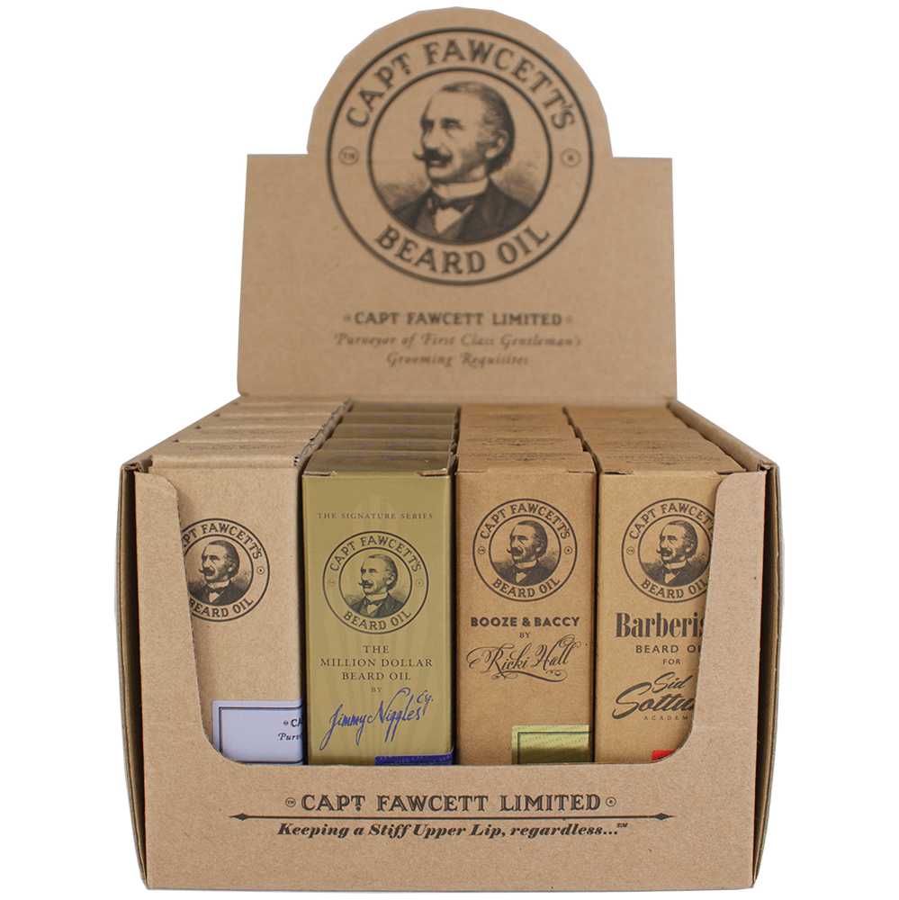 Captain Fawcett's Beard Oil Set Bundle, Beard Oil