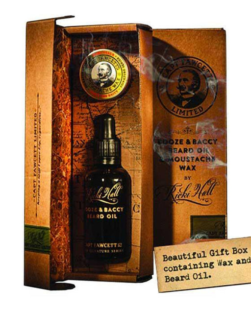 Captain Fawcett's Ricki Hall's Gift Box (Wax & Beard Oil), Mustache Wax