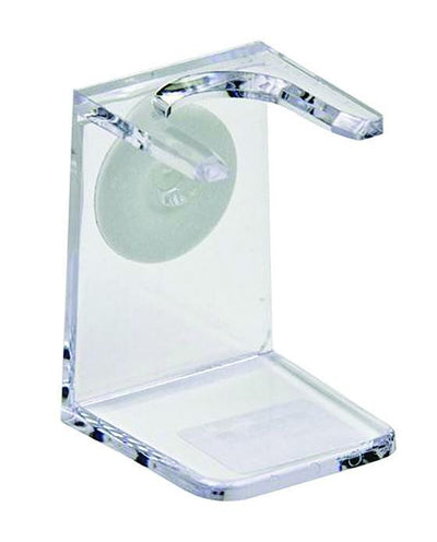 PureBadger Collection Shaving Brush Stand, Clear Acrylic, Standard Mouth