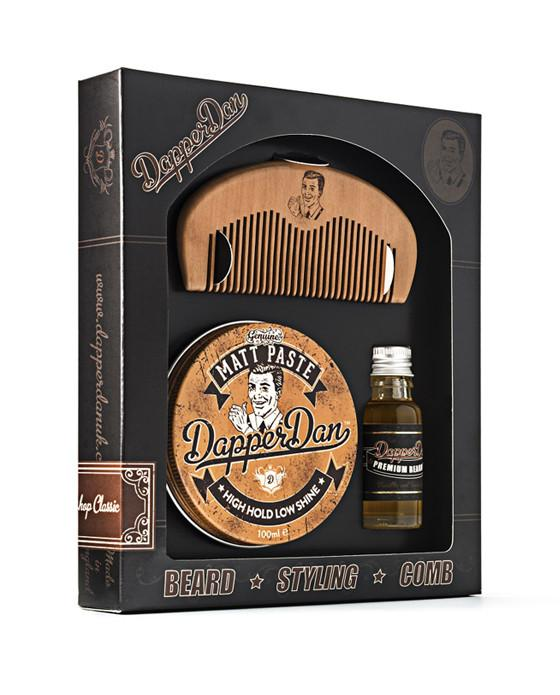 Dapper Dan 'Hairy Man' Gift Set, Pomade & Hair Styling