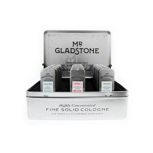 Mr. Gladstone Solid Cologne Full Retail Display Bundle, Solid Cologne