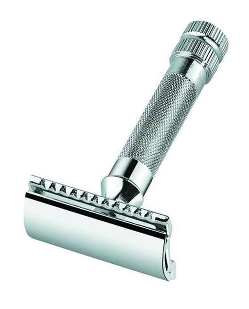 Merkur 34C Double Edge Safety Razor, Straight Cut, Extra Thick Handle, Chrome