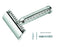 Merkur 42C Double Edge Safety Razor, Straight Cut, Chrome-Plated, Etched Handle, Double Edge Safety Razors