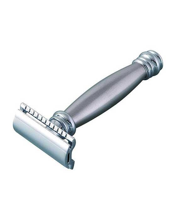 Merkur 43M Double Edge Safety Razor, Straight Cut, Extra Long Stainless Steel Handle