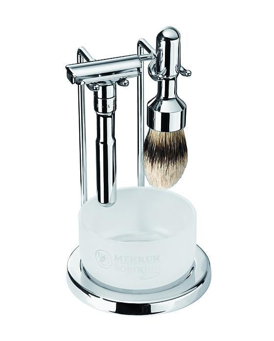 Merkur Futur 4pc Double Edge Safety Razor Shaving Set, Polished, Double Edge Safety Razors