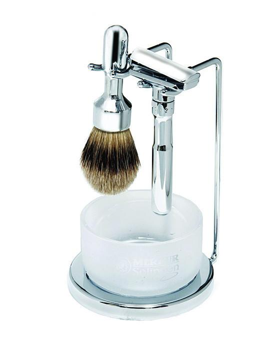 Merkur Futur 4pc Double Edge Safety Razor Shaving Set, Polished