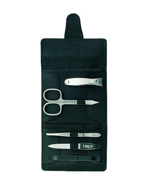 Niegeloh Capri Schwarz 5pc Manicure Set In High Quality Leather Case