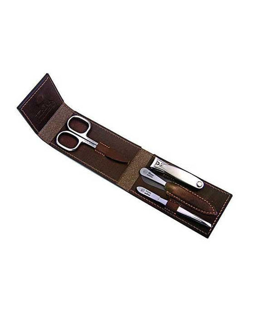 Niegeloh Havana S 4pc Manicure Set In High Quality Leather Case