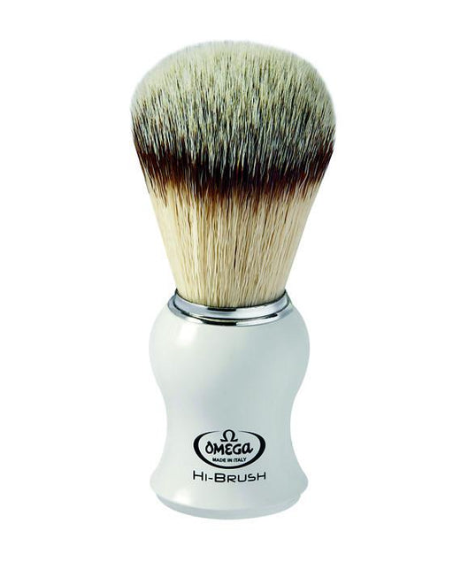 Omega Premium Synthetic Fiber Hair Plastic Handle, Shaving Brushes