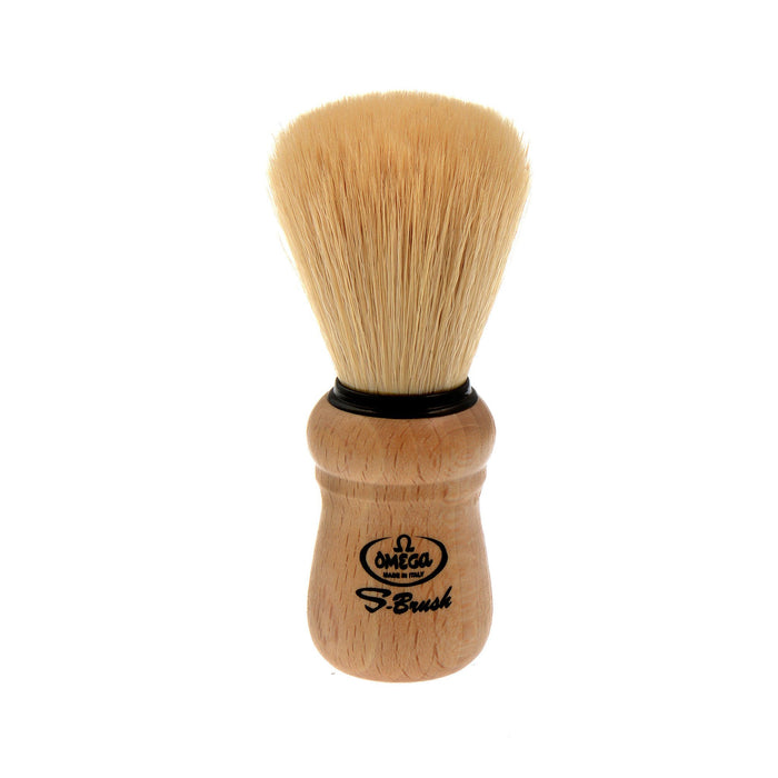 Omega Boar Bristle Shaving Brush, Beech Wood Handle