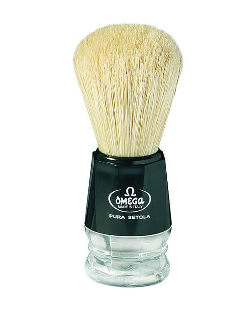 Omega Boar Bristle Shaving Brush with Plastic Handle, Shaving Brushes