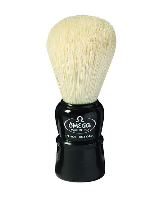 Omega 100% Boar Bristle Shaving Brush, Plastic handle, Assorted colours, Shaving Brushes