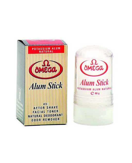 Omega Potassium Alum Stick, 60g, Alums & Styptics