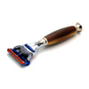 PureBadger Collection Shaving Razor Brown Handle - Fusion Head
