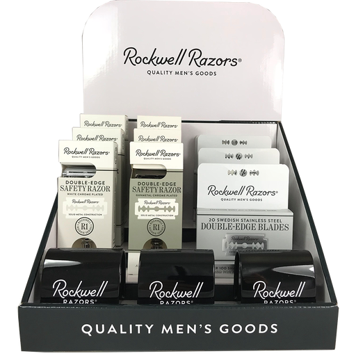 Rockwell Razors Rookie Value Bundle Shave Hardware Display, Retail Displays