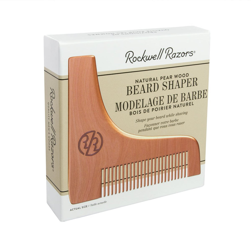 Rockwell Razors Beard Shaper Natural Pear Wood, Beard Care
