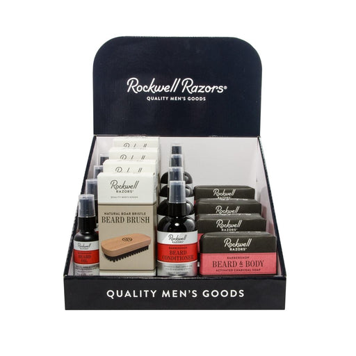 Rockwell Beard Collection Display Bundle, Beard & Mustache