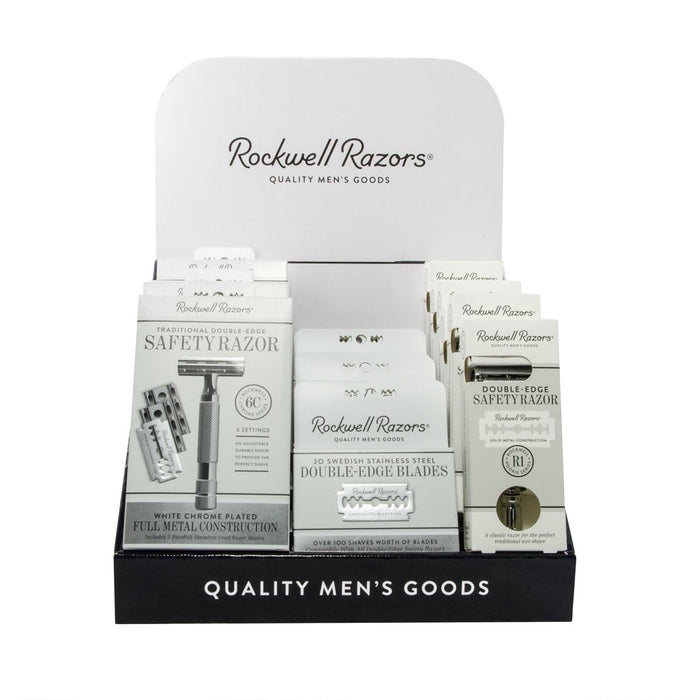 Rockwell Razors Shave Hardware Display Bundle, Retail Displays
