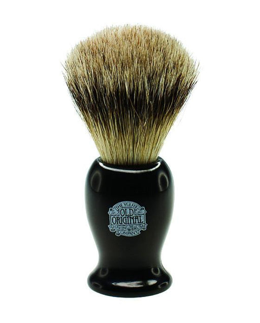 Progress Vulfix Super Badger Shaving Brush, Medium Black Handle, Shaving Brushes