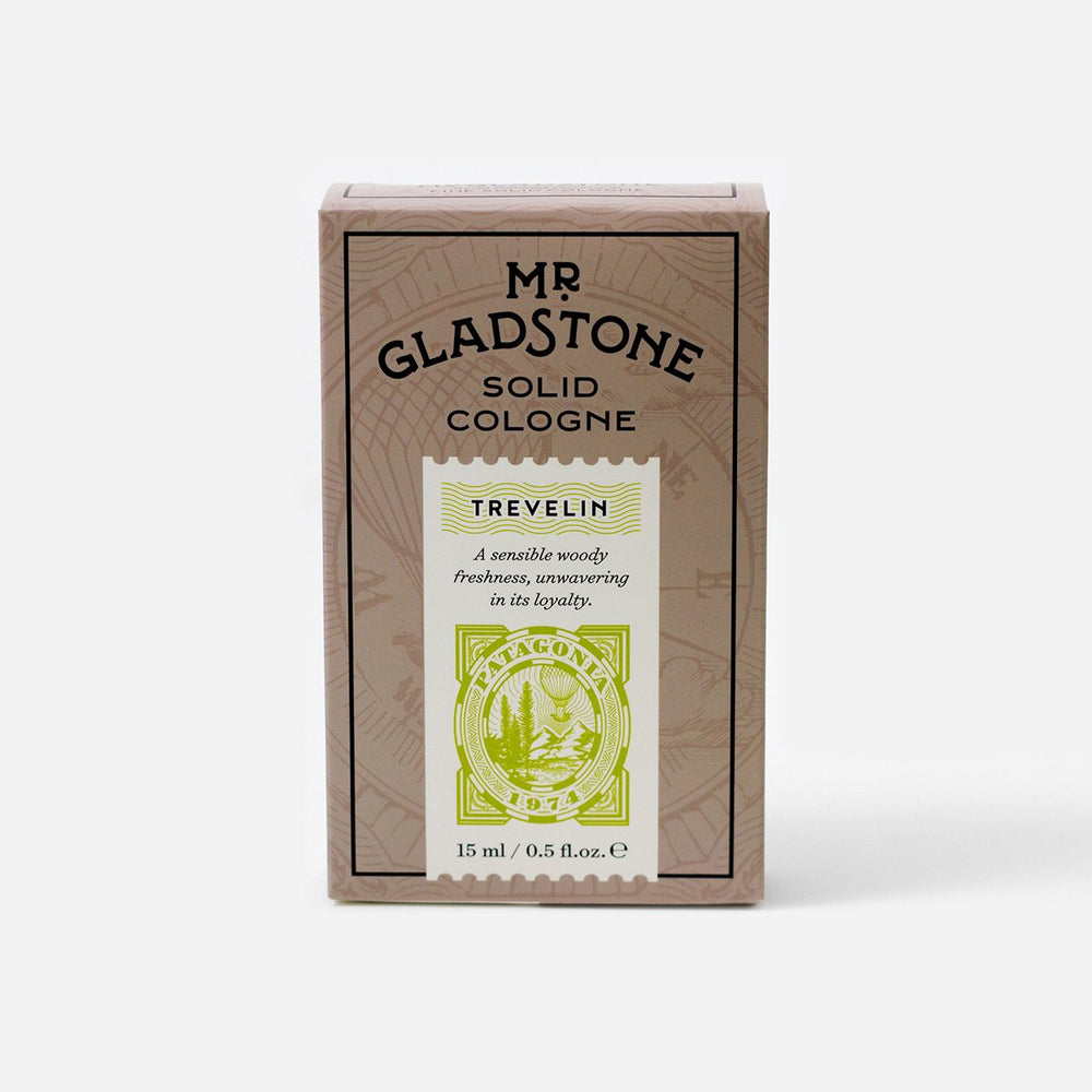 Mr. Gladstone Trevelin Solid Cologne - Fine Fragrance Reminiscent of 1974 Patagonia (1 Unit), Solid Cologne