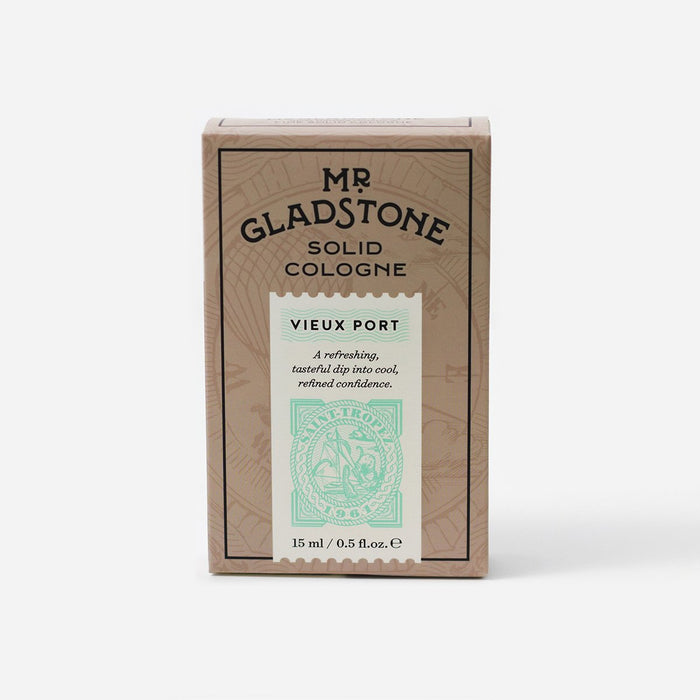 Mr. Gladstone Vieux Port Solid Cologne - Fine Fragrance Reminiscent of 1961 Saint-Tropez (1 Unit), Solid Cologne