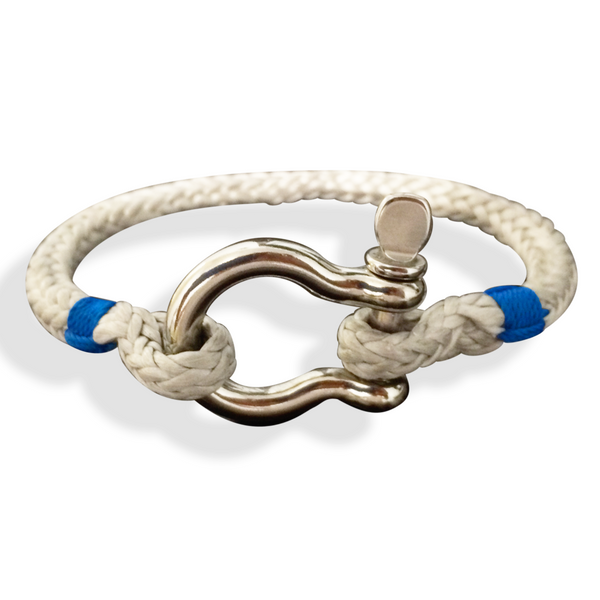 "Shackle Rope Bracelet, Cunningham Style, 6.5"" to 8"" Wrist Size, Grey"