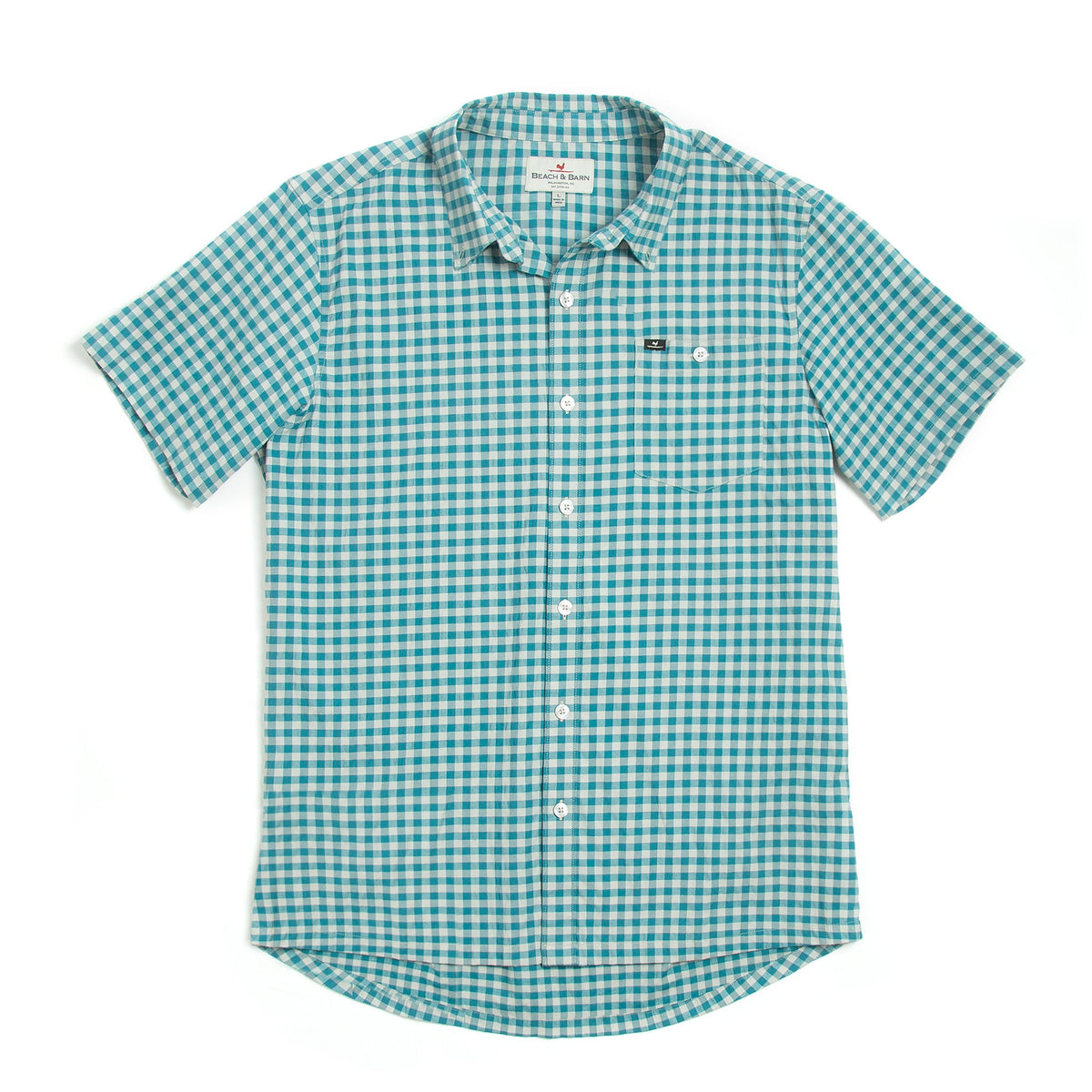 Checked Out Short Sleeve- Marine/Light Grey