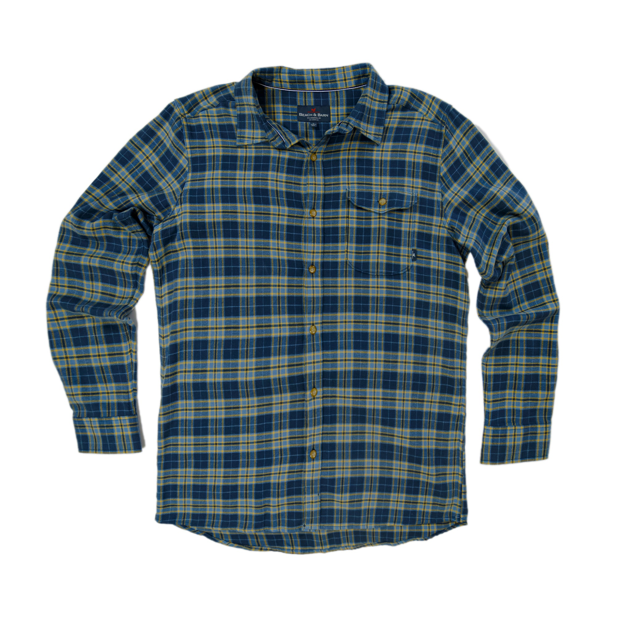 Masonboro Flannel - Steel Blue Plaid