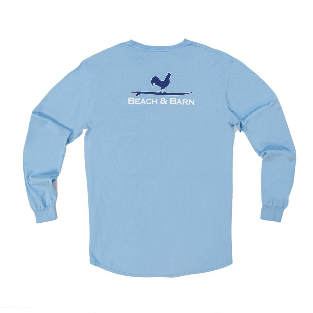 Sale - Surfing Rooster™ Pocket Tee Long Sleeve