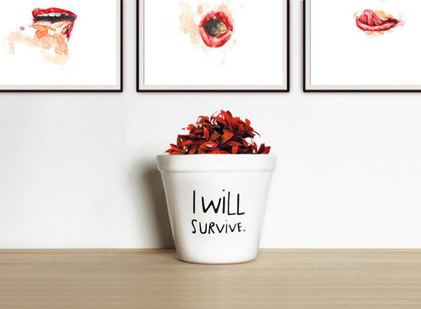 Maceta I will survive | Plant pot
