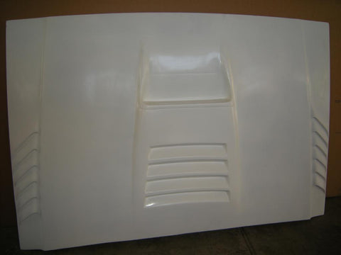 84-01 Jeep Cherokee (XJ) Off Road Fiberglass Hood - McNeil Racing Inc