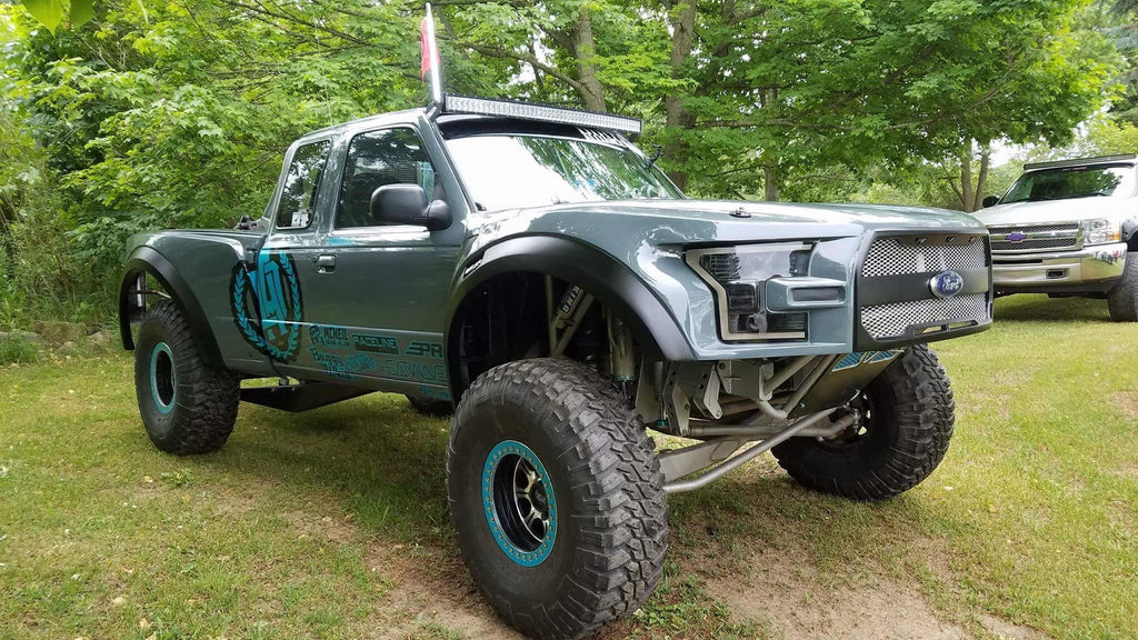 93+ Ford Ranger To 2017 Raptor Off Road Fiberglass One Piece Conversion - McNeil Racing Inc