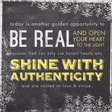 Be Real, Square Standout Plaque - Restful Home