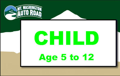 2018 Auto Road Pass Ages 5-12 yrs