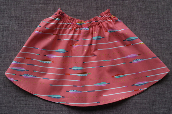 Talaria Girls Savannah Twirly Skirt Arrows