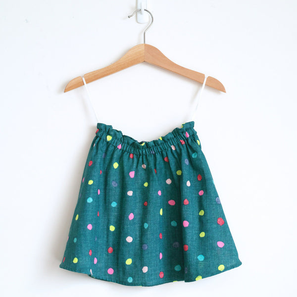 Talaria Girls Savannah Twirly Skirt Neon Dots Nani Iro