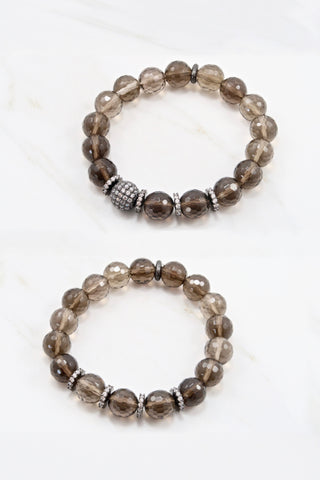 LYLA GUNMETAL smoky quartz