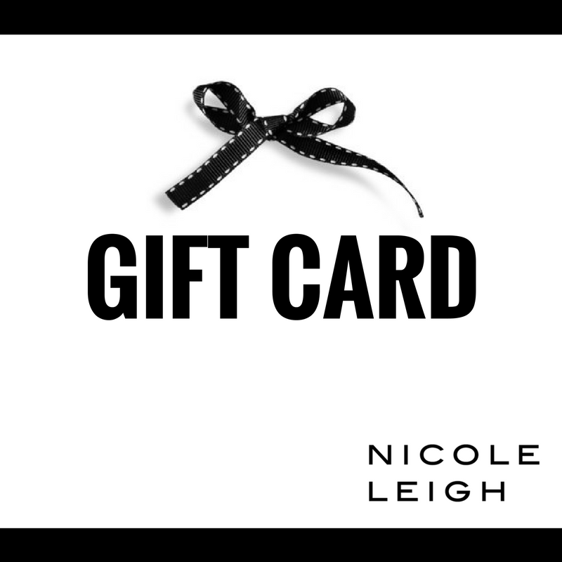 GIFT CARD  by NICOLE LEIGH Jewelry