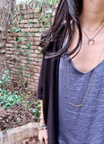 LEAH LONG gold Necklace by NICOLE LEIGH Jewelry