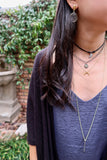 KYLIE gunmetal Necklace by NICOLE LEIGH Jewelry